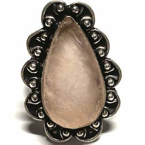 Rough-Cut Rose Gemstone Ring (8.5)